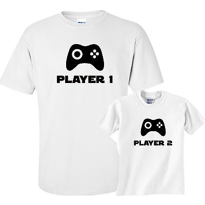 Father's Day Daddy Son Matching T-Shirt Tee top free p&p new gamer xbox ps4 pc