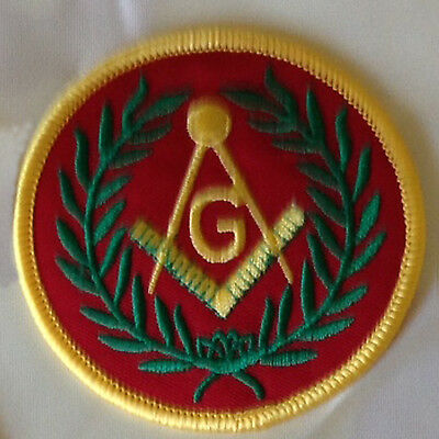 """Masonic, Square And Compass, 3"""" Embroidered Patch - Dozen Lot"""