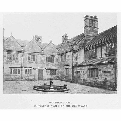WOODSOME HALL SE Angle of the Courtyard - Vintage Photographic Print 1929