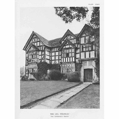 WEOBLEY The Ley, Herefordshire - Vintage Photographic Print 1929