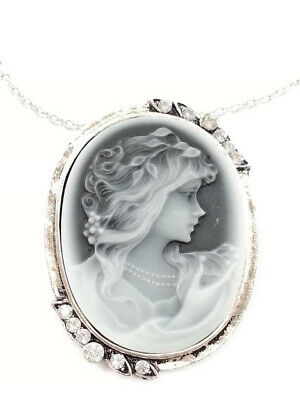 Ladies Cameo Pendant Victorian Vintage Retro Necklace (Free Shipping) 2,4,Or 6Pc
