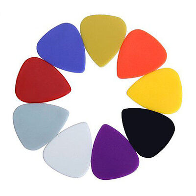Approx. 100pcs Plastic Guitar Picks Plectrums--Assorted Random Color LW