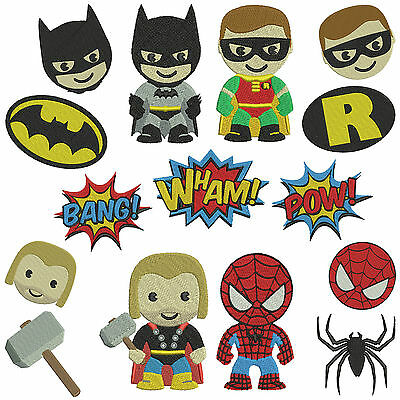 * SUPERHEROS 2 * Machine Embroidery Patterns * 15 designs in 2 sizes