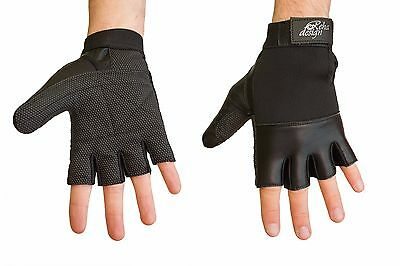 Wheelchair Gloves Leather-Ultra-Grip For Wet Weather and Sports
