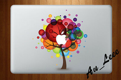 Macbook Air Pro Vinyl Skin Sticker Decal Abstract Bubble Color Tree Art CMAC085