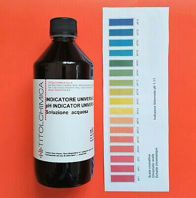 INDICATORE UNIVERSALE LIQUIDO pH 1-11 - 500 ml.