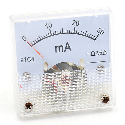 Analog Ammeter 91C4 DC 0-30 mA current test Class 2.5 Accuracy Amperemeter Gauge