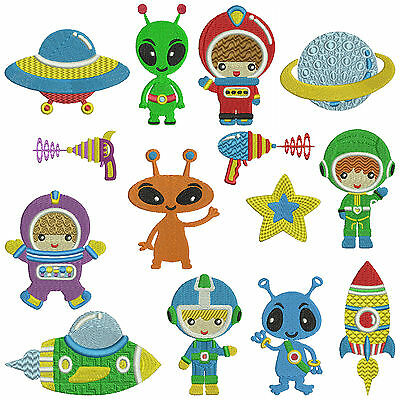 OUTER SPACE * Machine Embroidery Patterns  * 14 designs