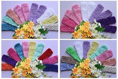 Wholesale x10 Baby Headband Girl Hair Band Crochet Elastic Stretchy Kids New