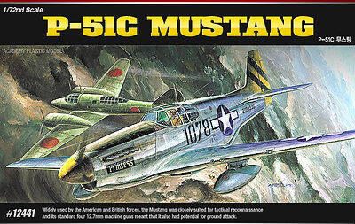 Academy 12441 P-51C MUSTANG 1/72 Plastic Hobby Model Kit NIB New