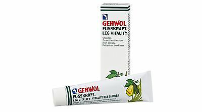 Gehwol Fusskraft Leg Vitality Cream 125ml - Refreshes Tired Muscles - Non Greasy
