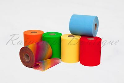 """Tutu Tulle Rolls 6"""" x 100 yards Rainbow Polyester or Sequin Netting Craft Fabric"""