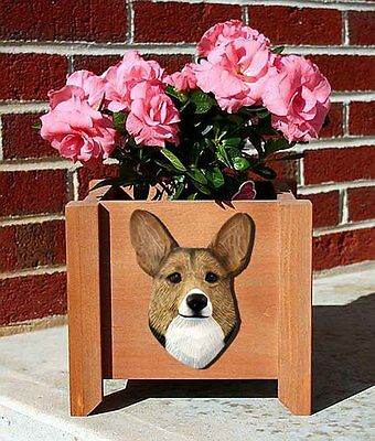 Welsh Corgi Pembroke Planter Flower Pot Sable