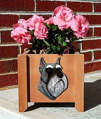Schnauzer Planter Flower Pot Salt & Pepper