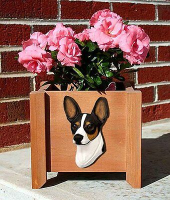 Rat Terrier Planter Flower Pot Tri