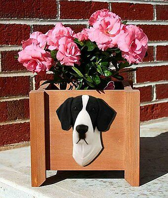 Great Dane Planter Flower Pot Mantle