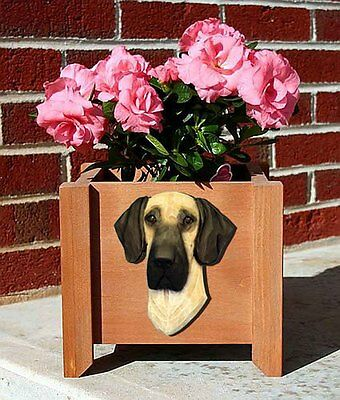 Great Dane Planter Flower Pot Fawn