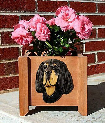 Gordon Setter Planter Flower Pot