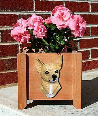 Chihuahua Planter Flower Pot Fawn