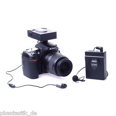 2.4GHZ Wireless Microphone Audio Recorder for DSLR Camera Camcorder Canon Sony