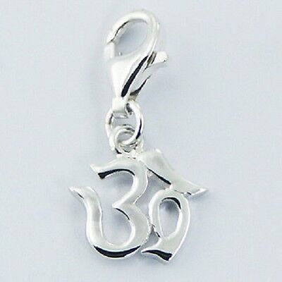 Silver charm 925 sterling  watering can charm w lobster clasp 29mm height