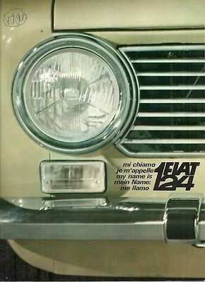 Fiat 124 Saloon 'My Name Is 124' 1967 UK Market Large Format Launch Brochure