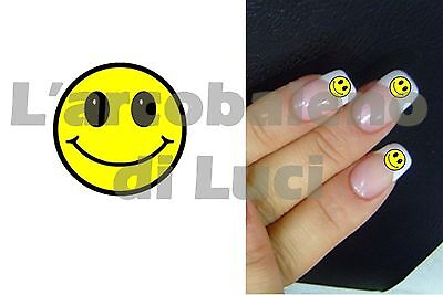 20 Pegatinas Uñas Smiley Cara Emoticon Smile Nail Art Stickers Reconstrucción