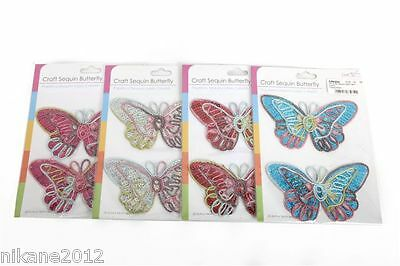 craft stickers cr0202  del embellishments card making dequin butterfly