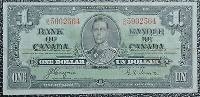 BANK OF CANADA - 1937 $1 Note - Prefix K/N - Signed Coyne & Towers