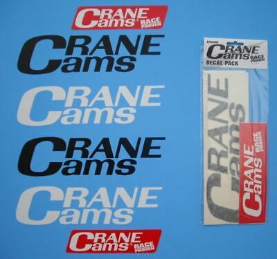 Crane Cam Stickers Pack Of 6 Decals - Free Post Stock Clear Out
