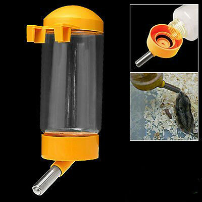 Pet Dog Puppy Gerbil Hamster Cage Water Feeder Bottle Yellow LW