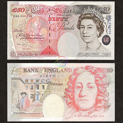 GREAT BRITAIN, ENGLAND 50 Pounds, QE II, Sign A. Bailey, 2006, P-388c, UNC