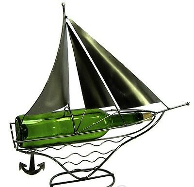 Sail Boat With Anchor Metal Wine Bottle Holder Character 41 99