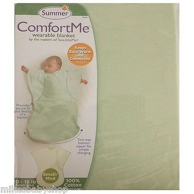 Summer Infant ComfortMe Wearable Blanket, Sage, Small/Medium