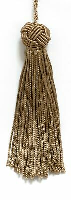 "Dark Sand 4"" Chainette Tassels Driftwood Bronze [Set of 10]"