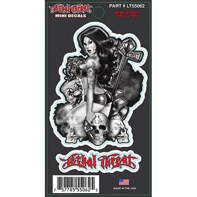 Lethal Threat Sticker Motorcycle Scooter Helmet Boards Decals Lt55062 Babe
