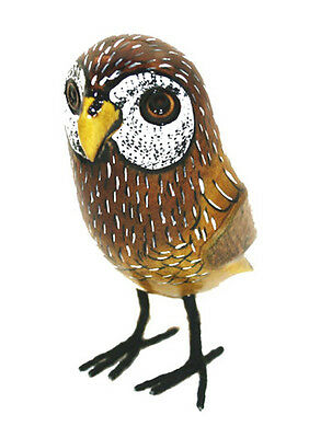 Wooden Owl - superbly hand carved and painted.