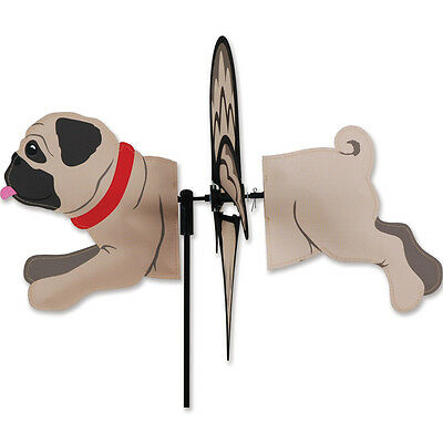 Pug Garden Wind Spinners Fawn