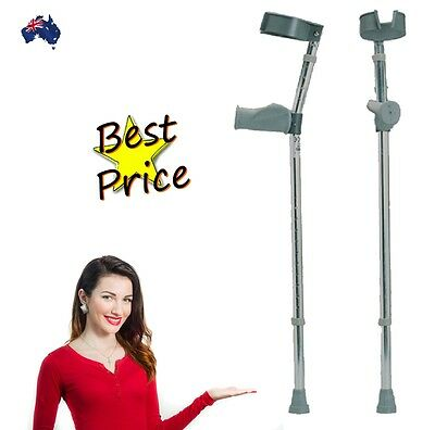 Invacare Pair of Ergonomic Anatomical Forearm Elbow Crutches RRP $69 a pair!