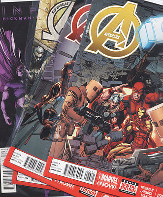 AVENGERS #22, 25, 26 AND New Avengers 15 Infinity MARVEL Now Comic LOT 2013 2014