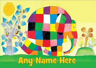 Elmer The Elephant Personalised Placemat