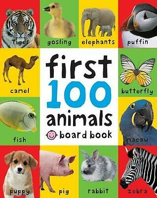 First 100 Animals Bright Baby First 100 Roger Priddy Board Book 9781849154215