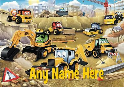 My 1St / First Jcb Personalised Placemat