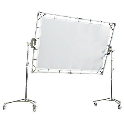 Butterfly Frame Sun Diffuser Panel with Light Stands (150x200cm) Studio White