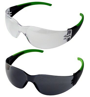 UCI Java SPORT Style Safety Glasses Eye Protection - Clear Or Smoke Lens