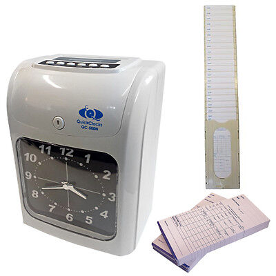 Clocking In / Out Clock Time Attendance Recorder (Includes 125 Cards And A Rack)