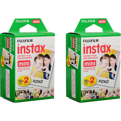 40 Prints Fujifilm Instax Mini Instant Film for 9 8 50s 7s 90 & Pol 300 Camera