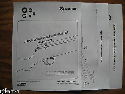Crosman 1400 Reseal Seal Repair Kit With Exploded View - Parts List & Guide