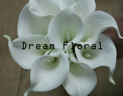 36 Real Touch White PU Calla Lily~Wedding Bridal Bouquets/Centerpiece Flowers