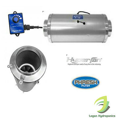 Phresh Silenced Hyper Fan 150mm x 450mm - Built in Silencer / Variable Fan Speed